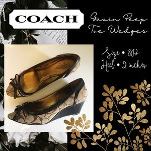 Coach Gavin Peep Toe Wedges